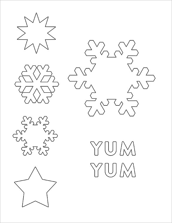 585x757 Snowflake Templates Free Word, Pdf, Jpeg, Png Format