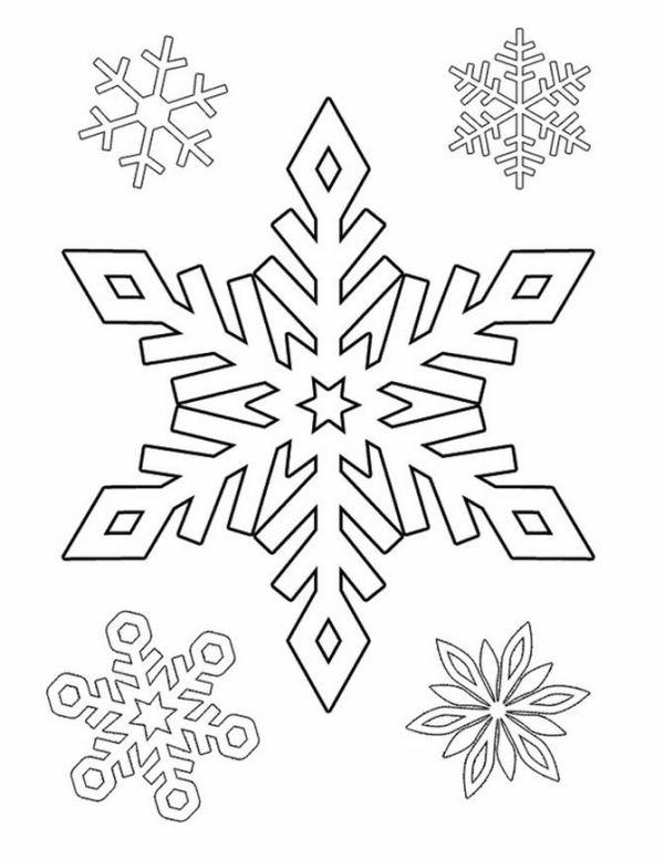 600x776 Snowflake Stencil (5) Moldes O Dibujos Para Crear