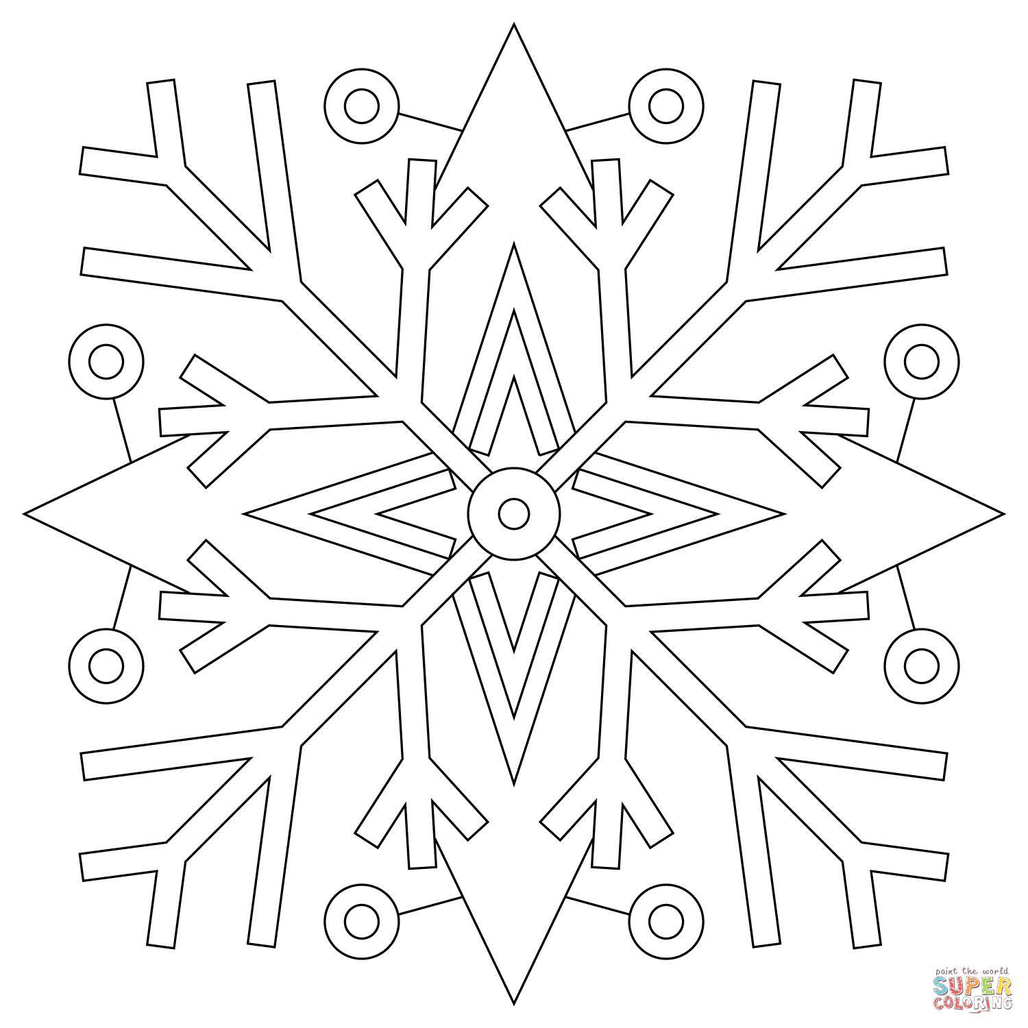 1500x1500 Wonderful Snowflake Template For Kids Awesome Ideas