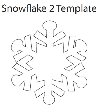 342x378 Best Photos Of Printable Snowflake Cut Out Template