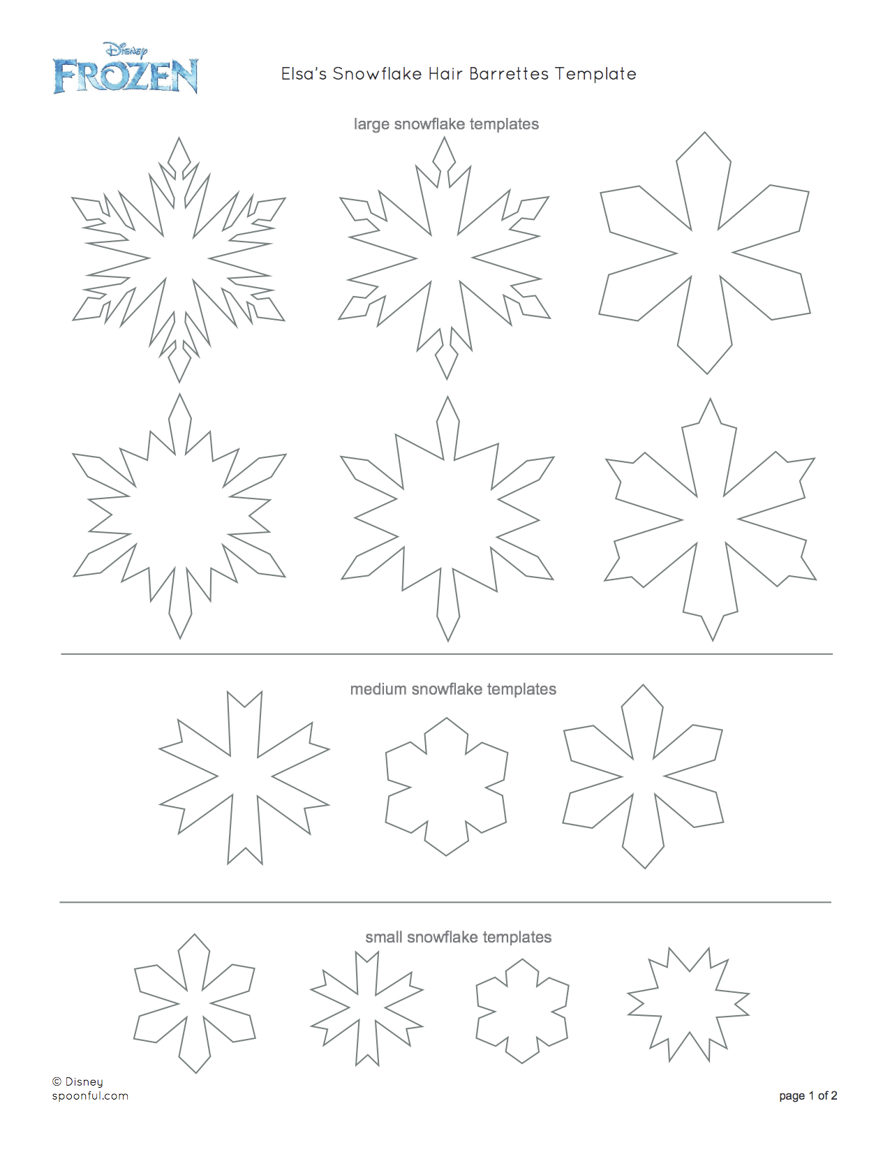 Snowflake drawing template at getdrawings free for personal 1275x1650 diy elsa snowflake barrettes cute and easy to make maxwellsz