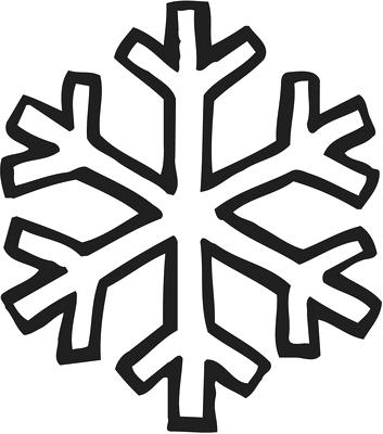 353x400 Outline Of A Snowflake Snowflake With Diamond Outline Variant Free