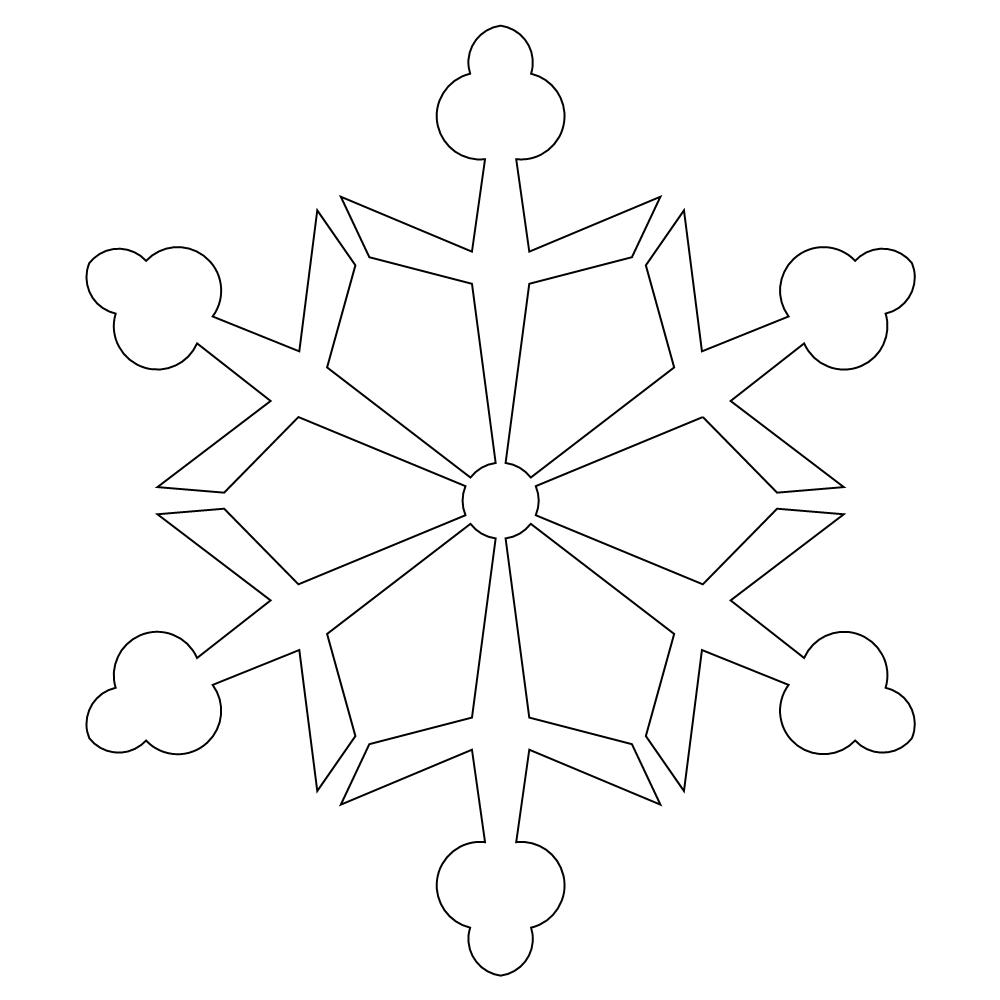 3d paper snowflakes printable instructions