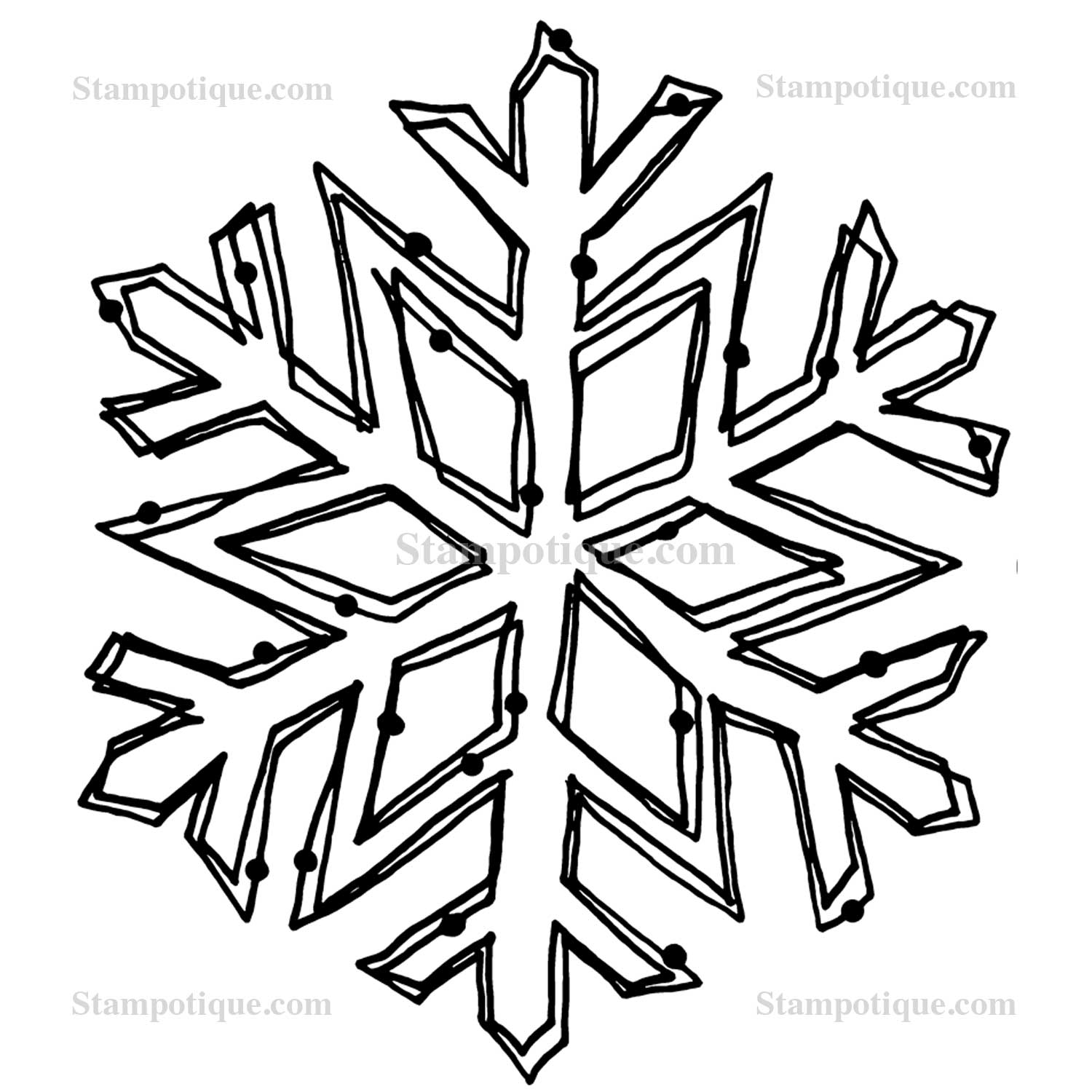 Snowflake Easy Drawing at GetDrawings.com   Free for personal use ...