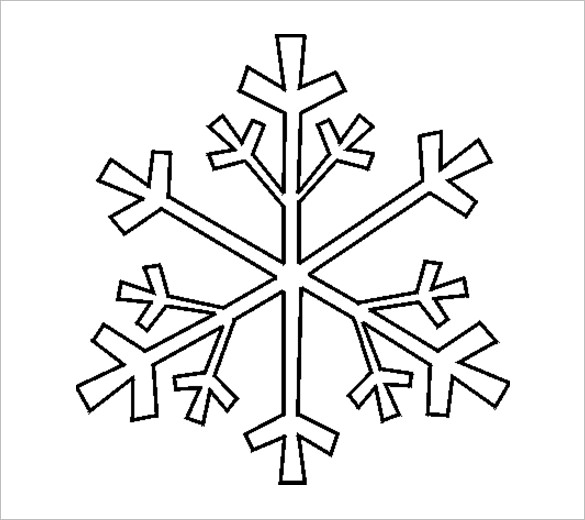 snowflake line drawing at getdrawings com free for personal use