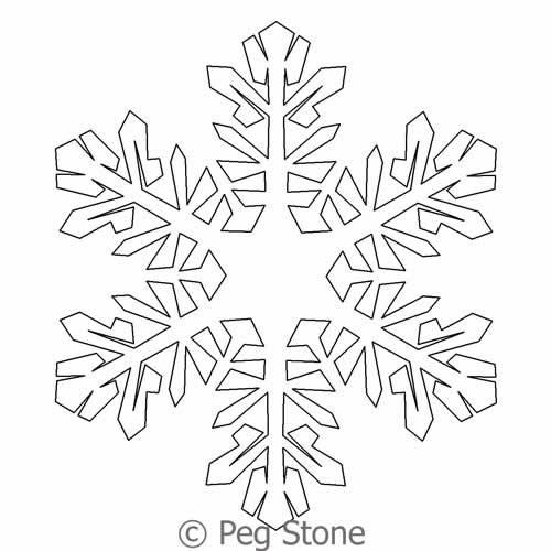 500x500 Snowflake 5 Peg Stone Digitized Quilting Designs