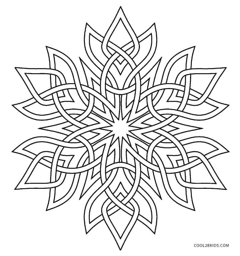 796x850 Snowflake Color Page Line Drawings Online Free Snowflake Coloring