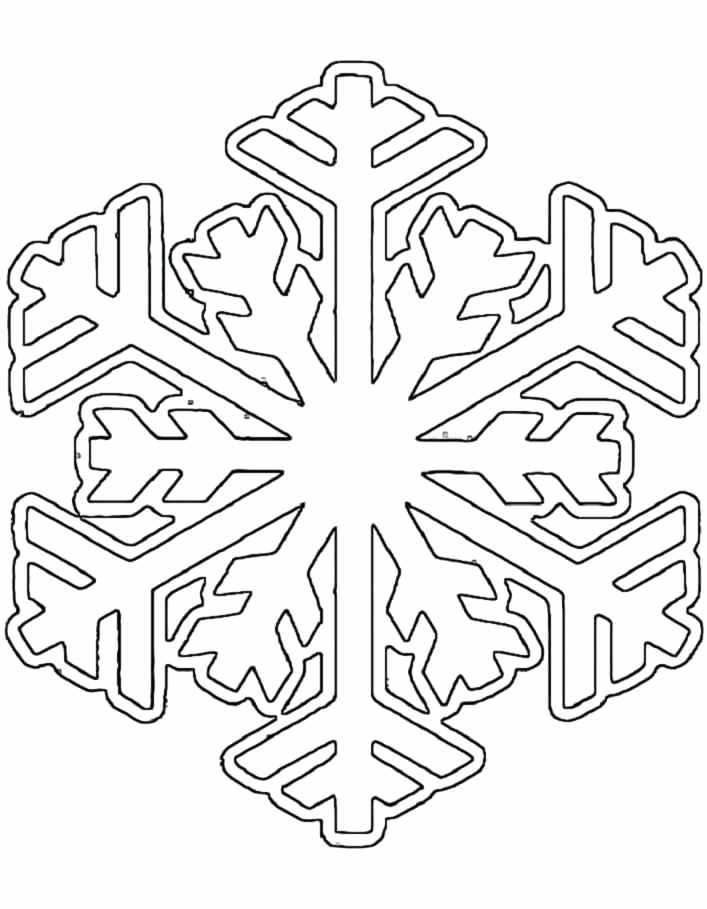 707x909 Snowflake Color Pages Winter Snowflake Coloring Pages Snowflake