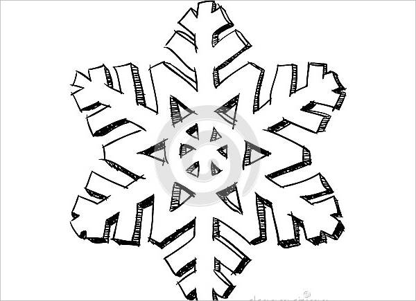 Snowflakes Drawing
