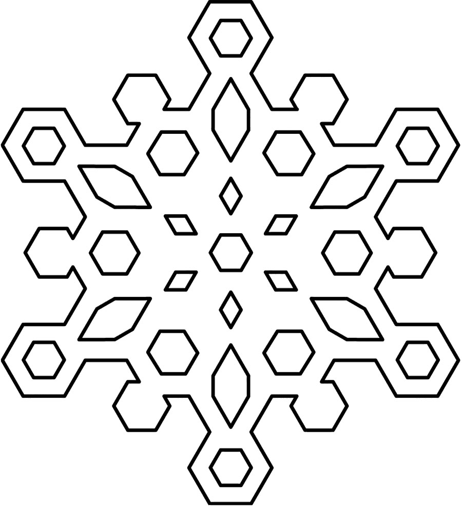 900x987 Best Black And White Snowflake
