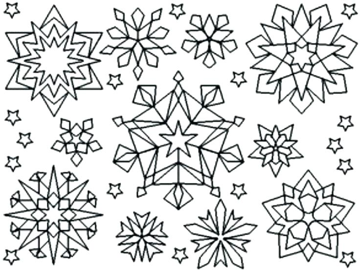 736x552 Snowflake Color Page Simple Snowflake Coloring Pages Snowflake