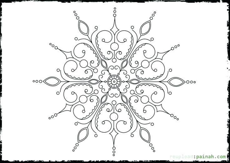 736x522 Snowflake Color Pages Free Coloring Page Snowflake Mandala