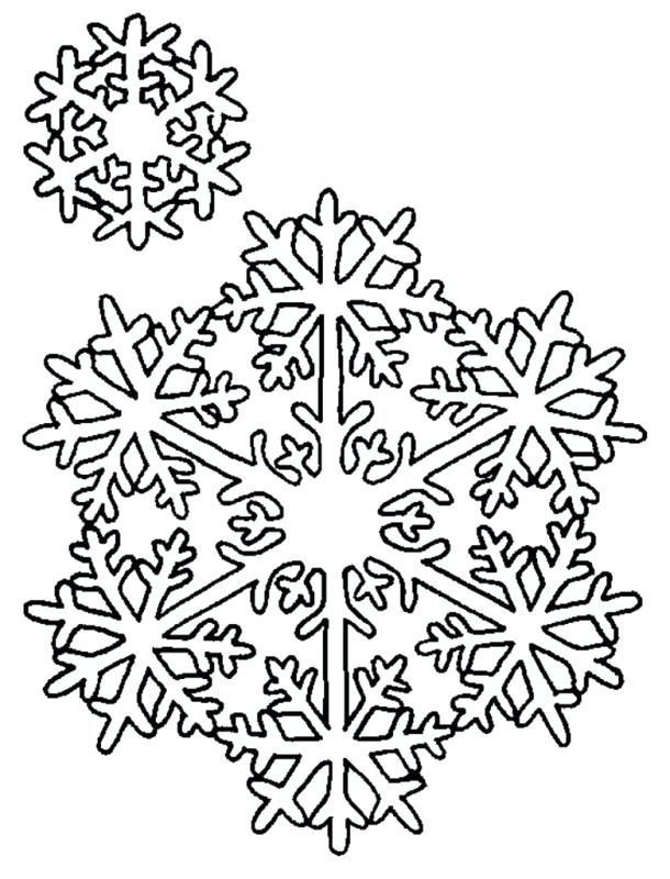 610x800 Snowflake Color Pages Snowflake Coloring Pages Printable Snowflake