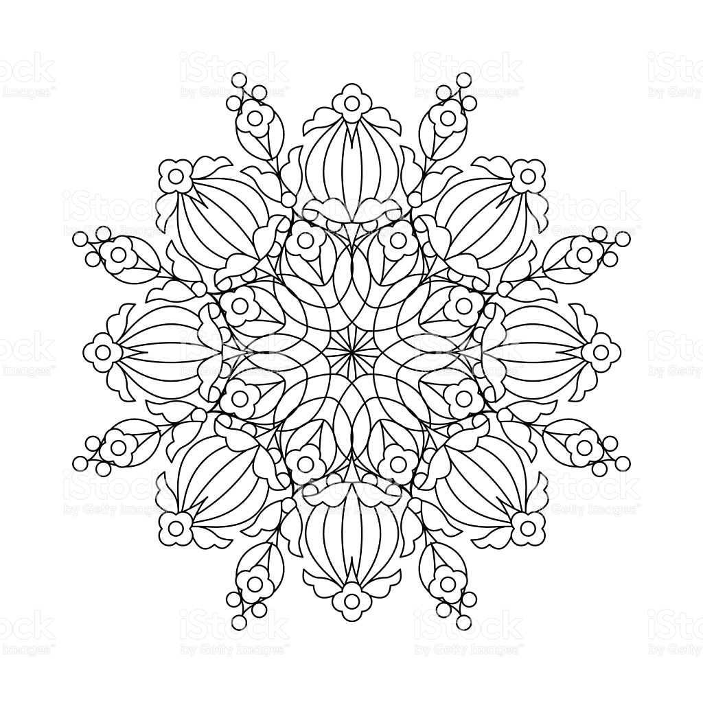 1024x1024 Snowflake Lineart Clipart
