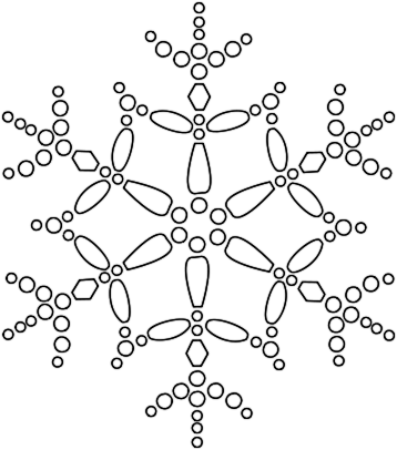 358x406 Top 75 Snowflake Clip Art