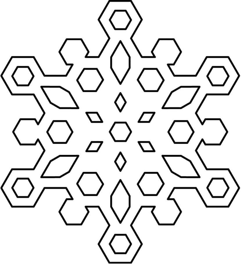 830x910 White Snowflake Clip Art