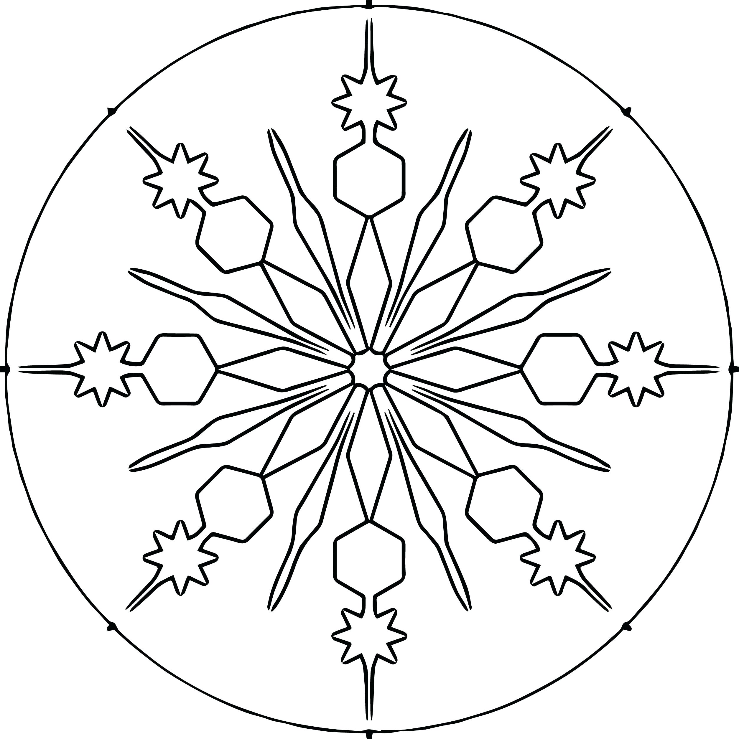 2507x2508 Coloring Coloring Page Snowflake