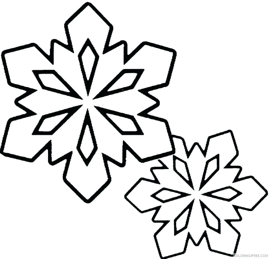 900x864 Coloring Pages Of Snowflakes