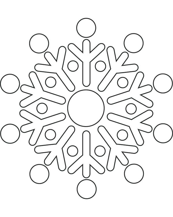 600x750 Coloring Snowflakes Genesisar.co