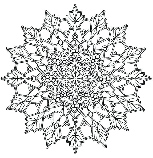 650x670 Snow Flake Coloring Pages