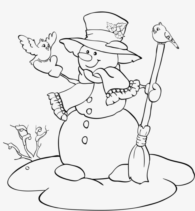 650x704 Painted Snowman, Pencil Drawing, Hand Painted, Snowman Png Image