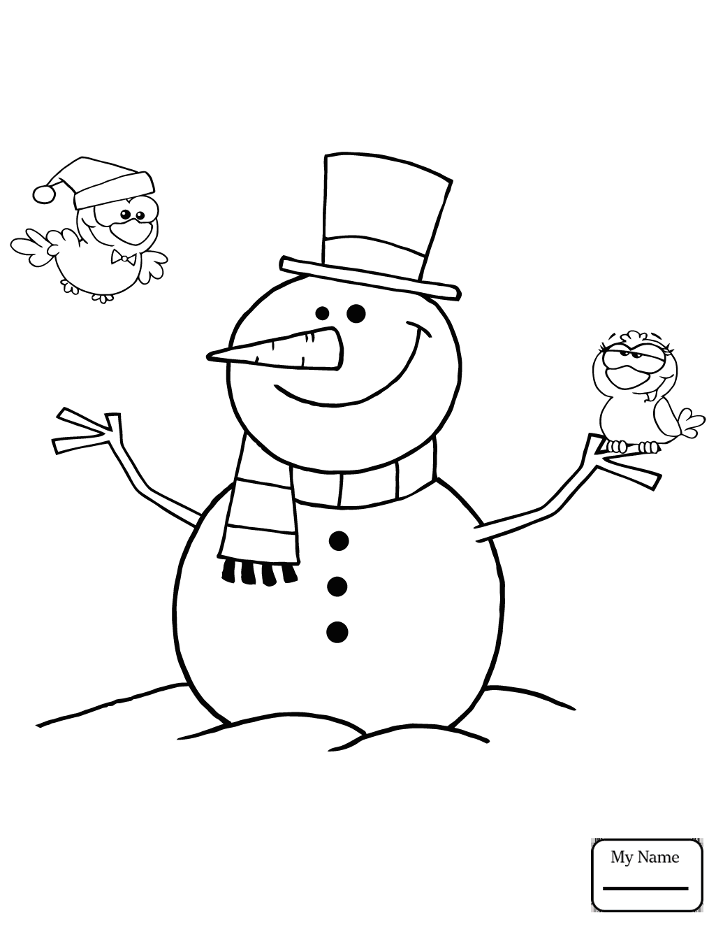 1025x1326 Cartoon Snowman Holidays Snowman Coloring Pages For Kids