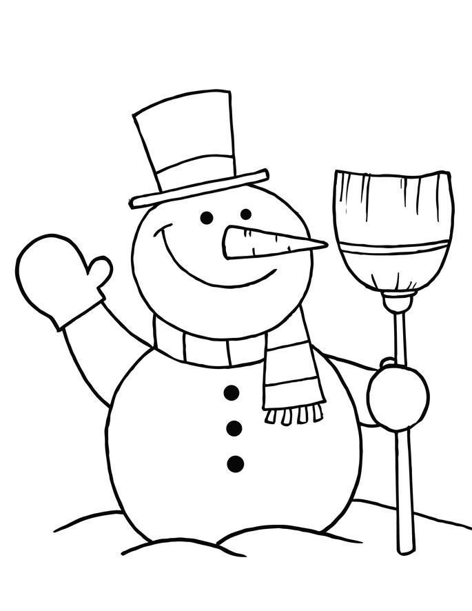 685x886 Snowman Color Pages Embroidery Patterns Snowman