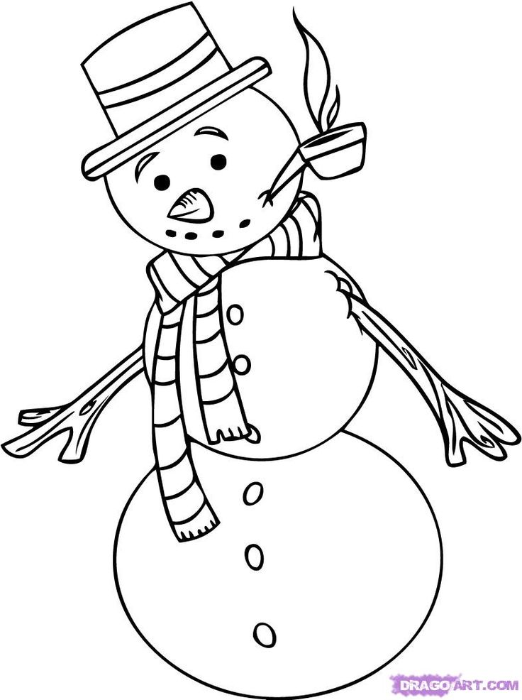 736x986 Best How To Draw Snowman Ideas On Draw A Snowman