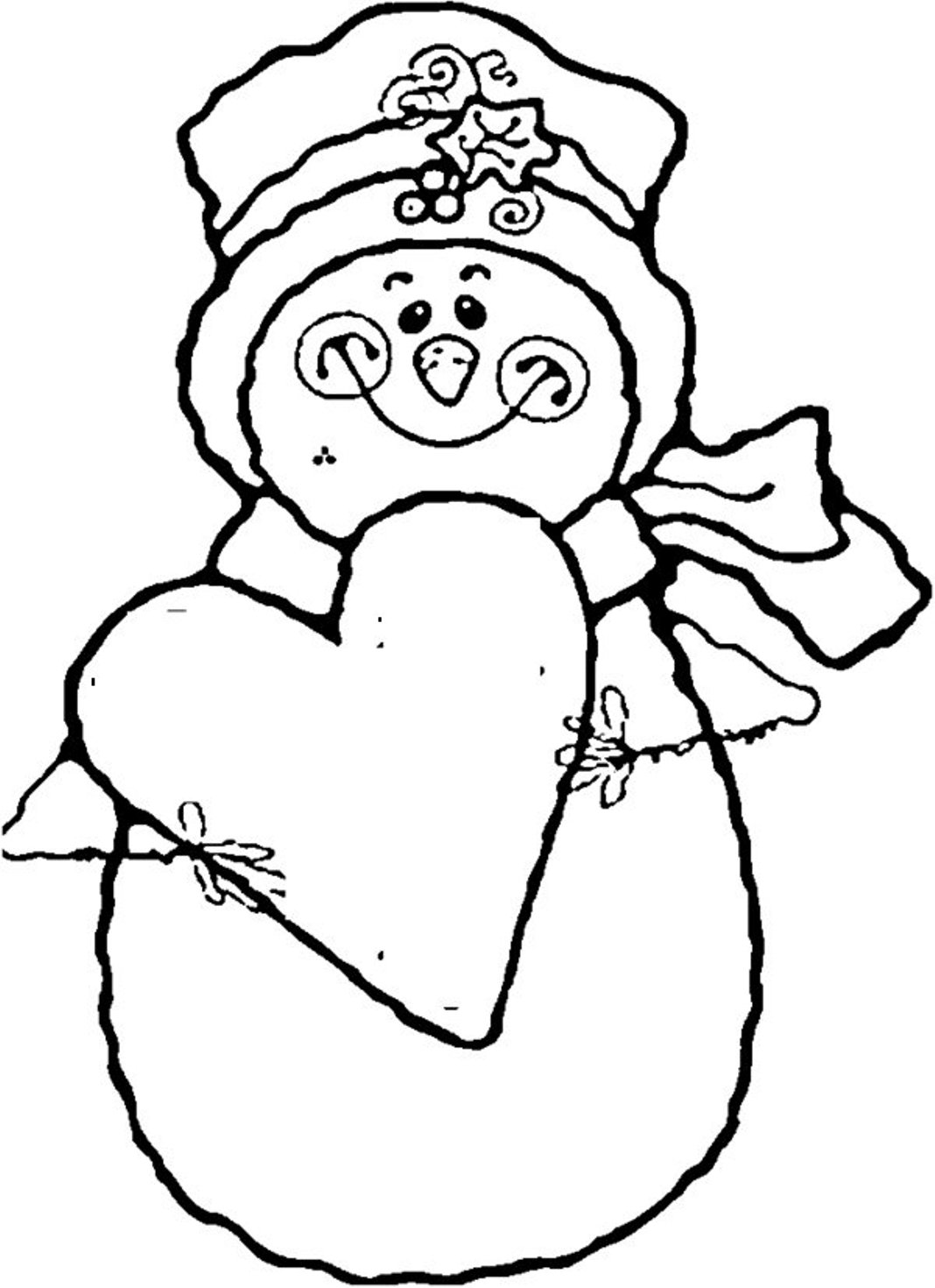 1068x1470 Snowman Coloring Pages Printable