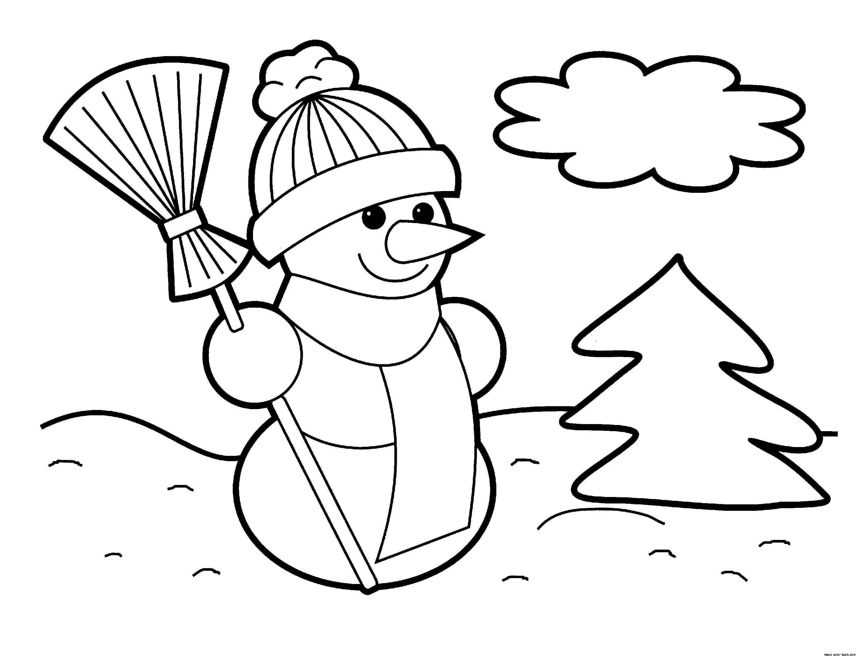 2930x2232 Snowman Free Printable Coloring Pages