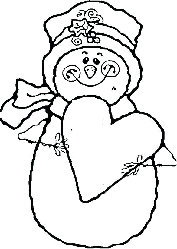 585x826 Christmas Snowman Coloring Pages Snowman Smile With Love Coloring