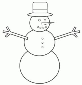Snowman Line Drawing