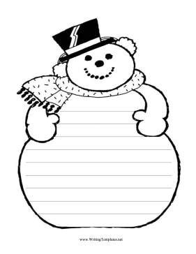 281x364 Snowman Writing Paper Free Printables Tags Snowman Writing Paper