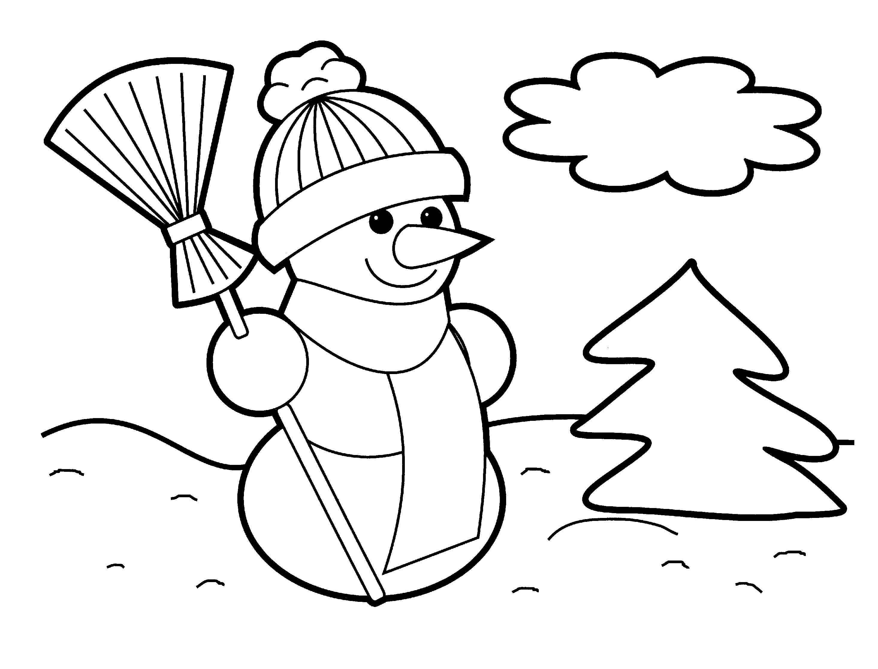 2930x2232 Coloring Pages Snowman New Christmas Page For