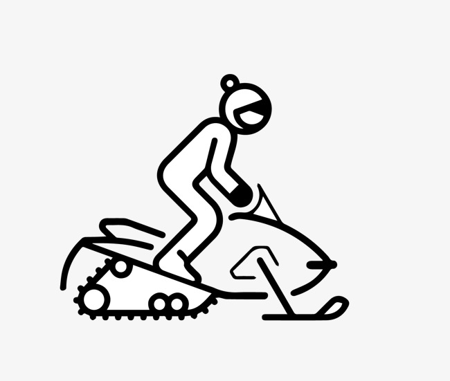 650x551 People Ride The Snow Cart Material, Snowmobile, Vehicle, Flat