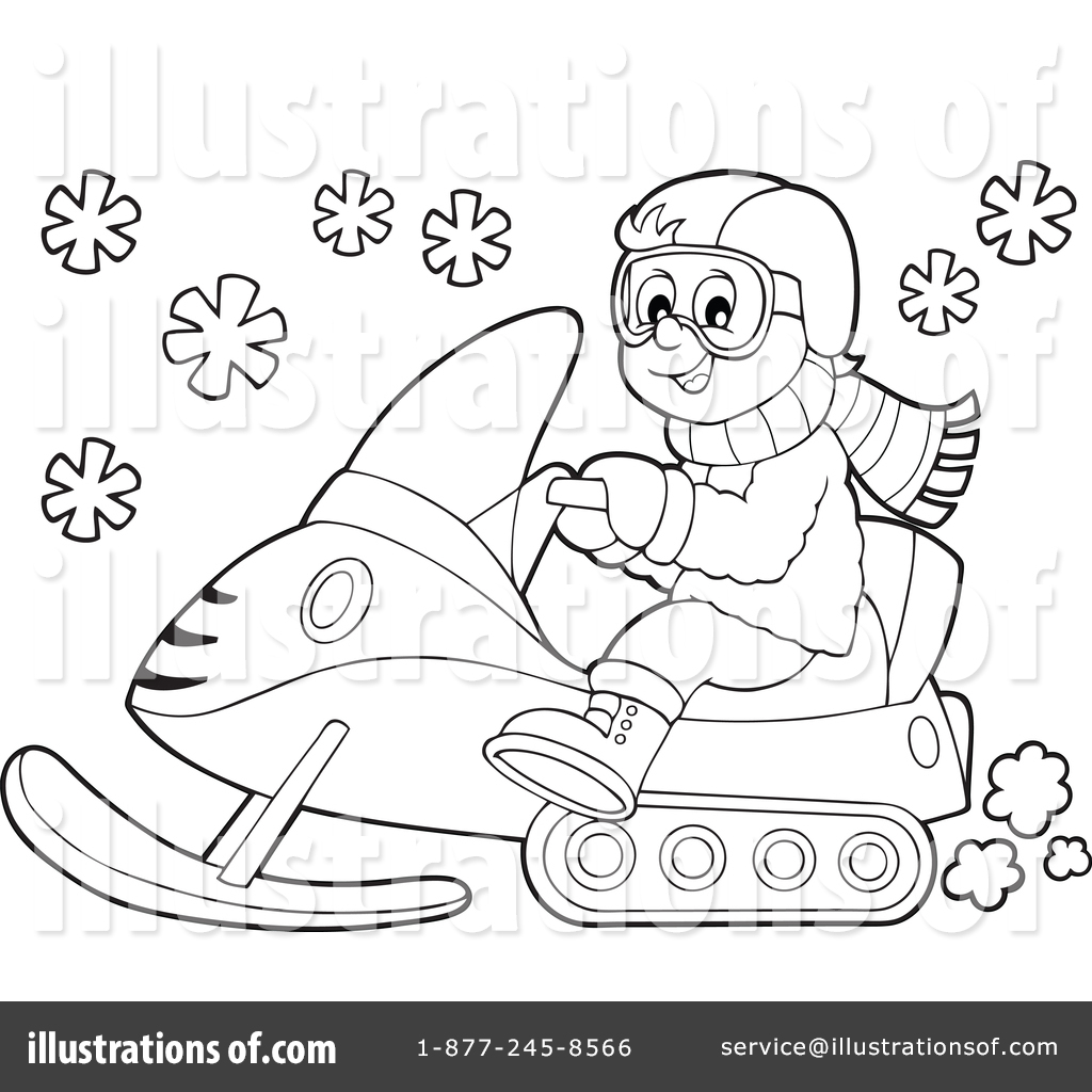 1024x1024 Snowmobile Clipart