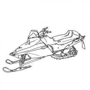 302x302 Snowmobile Drawings Sketch Coloring Page Art Instruction