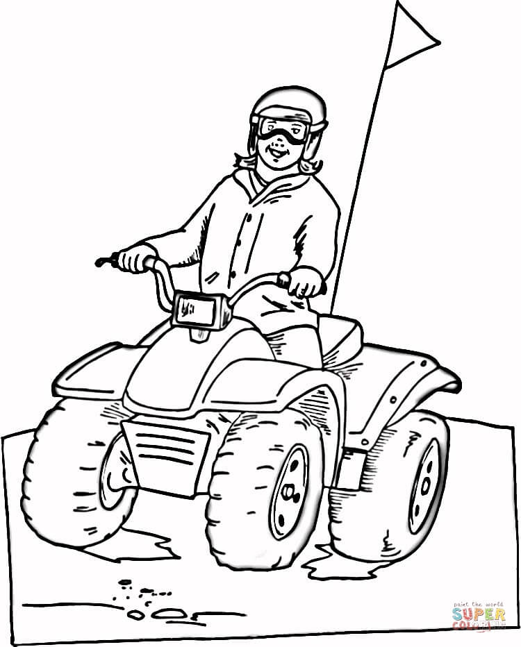 750x932 Snowmobile Coloring Page Free Printable Coloring Pages