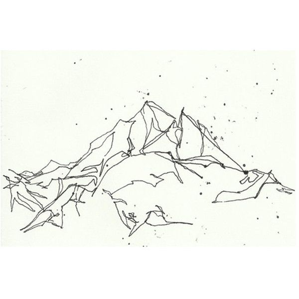 how to draw snowy mountains