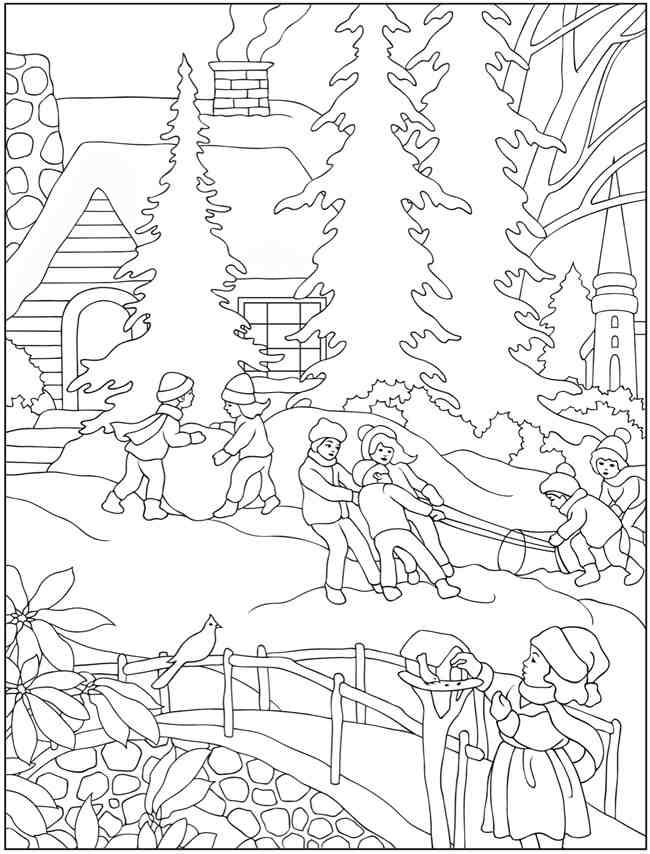 650x854 Winter Coloring Books Winter, Coloring Books