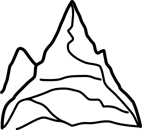 Snowy Mountain Drawing