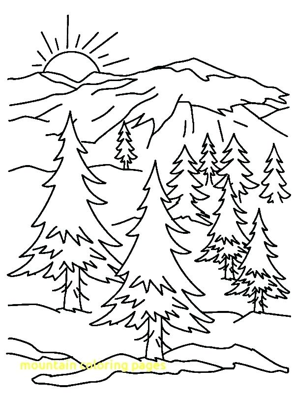 600x800 Coloring Pages Mountains Landscapes Mountains And River Landscapes
