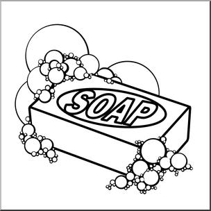 304x304 Clip Art Soap Bampw I Abcteach