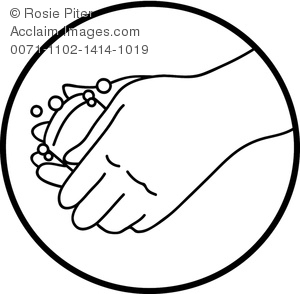 300x294 Clipart Illustration Of Washing Hands With Bar Of Soap