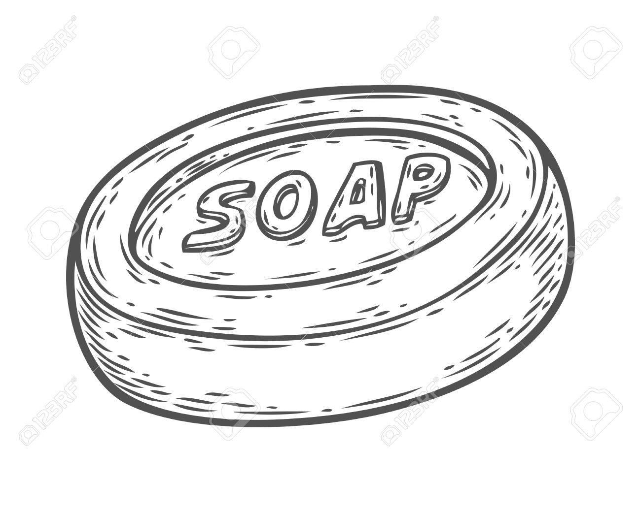 1300x1040 Handmade Natural Cream Soap. Vector Hand Drawn Illustration