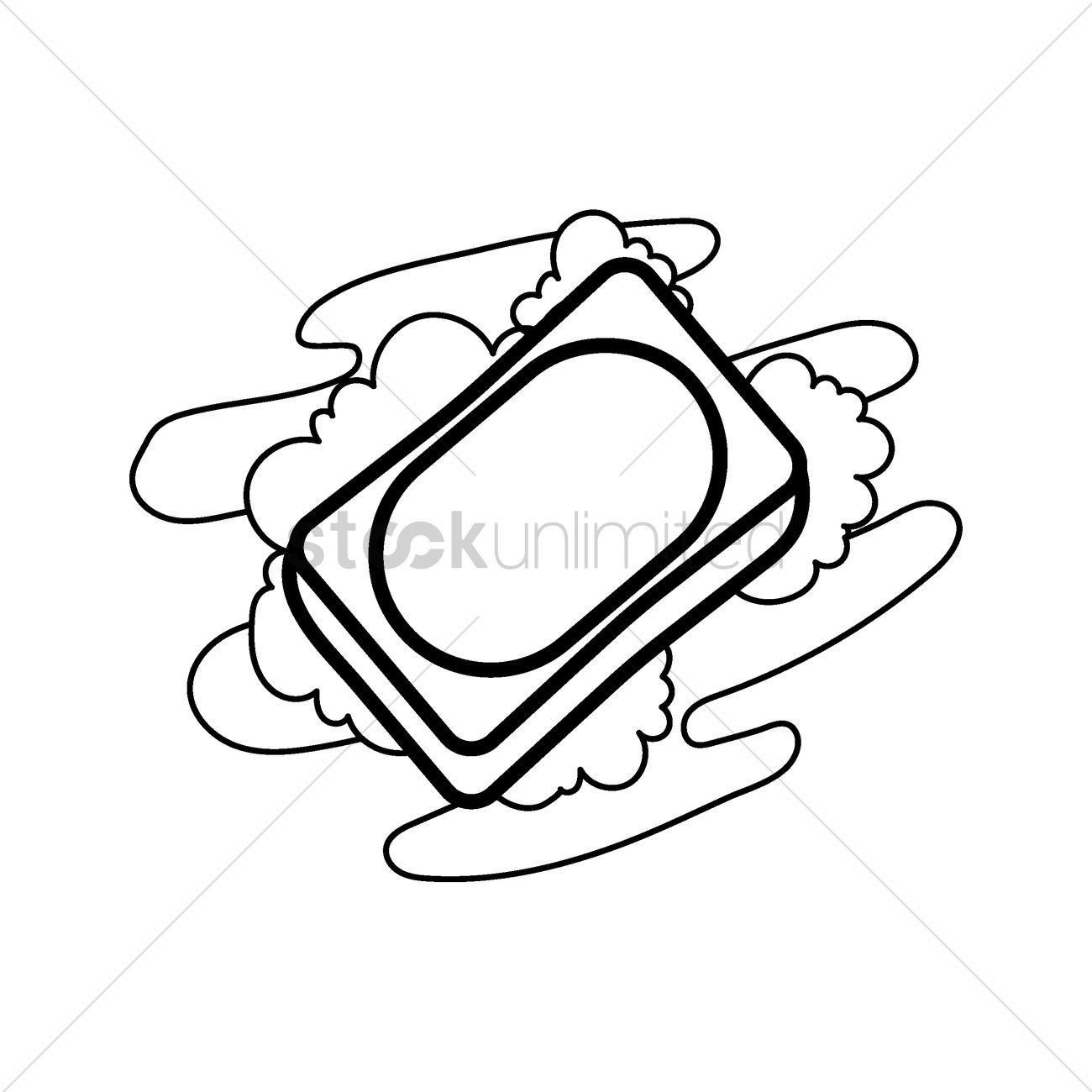 1300x1300 Soap Bar Vector Image