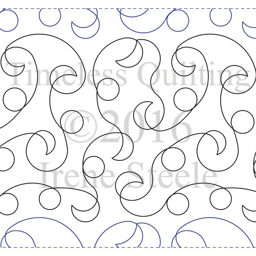500x500 Flirty Bubbles Machine Quilting Design Paper Timeless Quilting