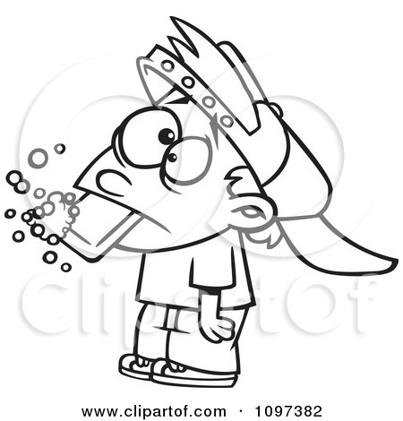 450x470 Clipart Outlined Bad Boy Getting His Dirty Mouth Washed Out