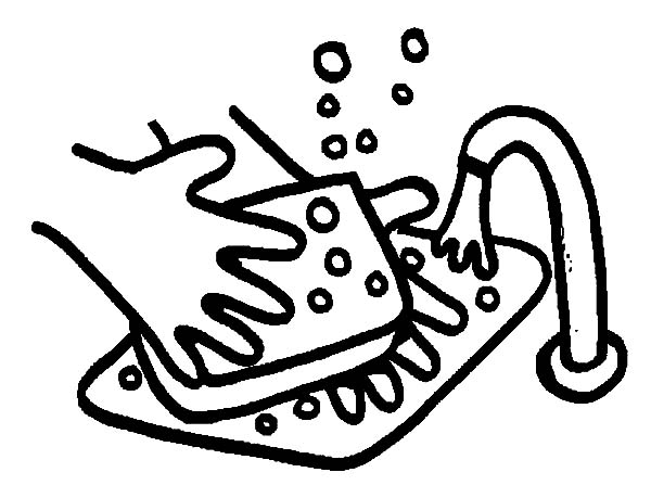 600x459 Hand Washing Sink Soap Coloring Pages Hand Washing Sink Soap