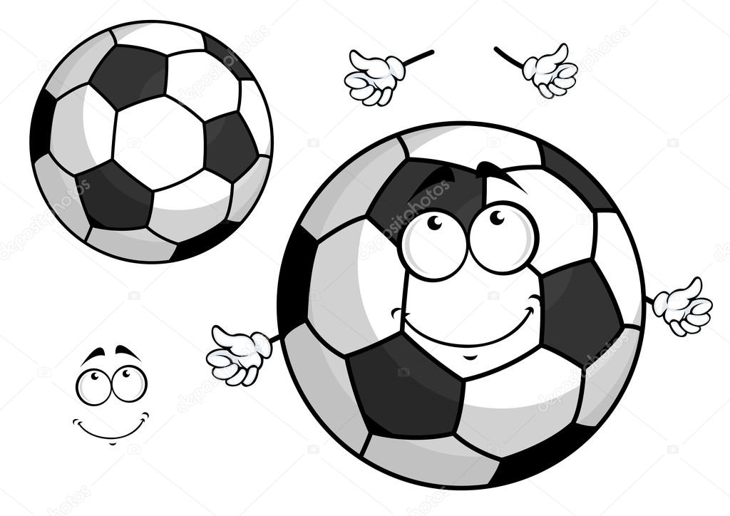 1024x724 Cartoon Football Or Soccer Ball Mascot Stock Vector Seamartini